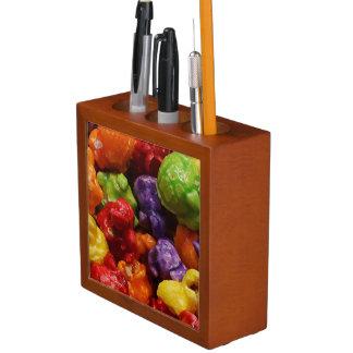 Porta Lápis Organizador cristalizado da mesa da pipoca