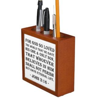 Porta Lápis Organizador da mesa - 3:16 de John