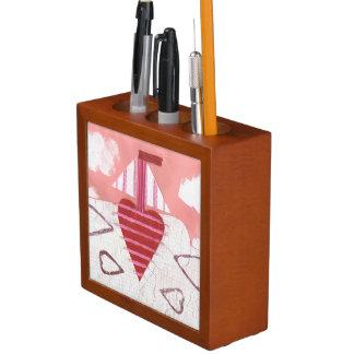 Porta Lápis Organizador da mesa do barco de Loveheart