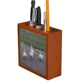 Porta-lápis Organizador da mesa do pato