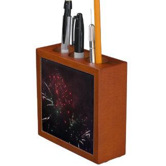 Porta-lápis Organizador da mesa dos fogos-de-artifício