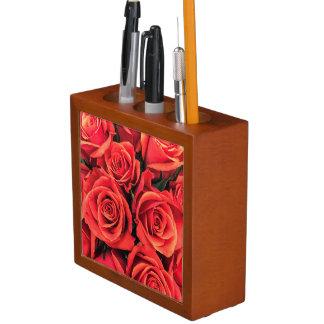 Porta-lápis Organizador da mesa dos rosas