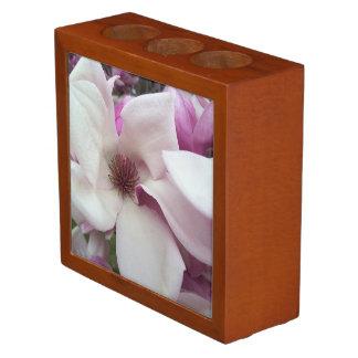 Porta Lápis Organizador da mesa - flor da magnólia de pires