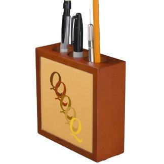 Porta Lápis Organizador da mesa - monograma com sobrenome