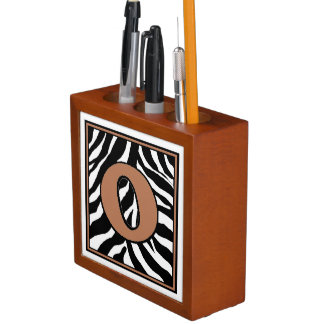 Porta-lápis Organizador O-Monogrammed da mesa do impressão da