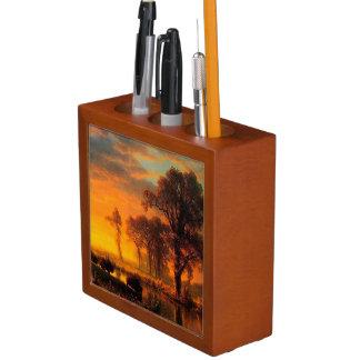 Porta Lápis Organizador ocidental da mesa do por do sol