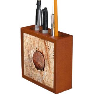 Porta Lápis Organizador oxidado idoso da mesa do prego