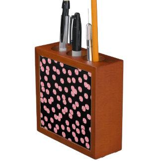 Porta Lápis Organizador vermelho da mesa das bolinhas