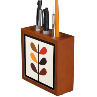 Porta Lápis Outono abstrato da planta