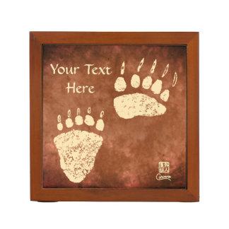 Porta-lápis Patas de urso em Brown - organizador da mesa