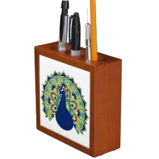 Porta Lápis Pavão da mandala