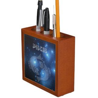 Porta-lápis Peixes transparentes