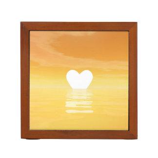 Porta-lápis Por do sol do amor - 3D rendem