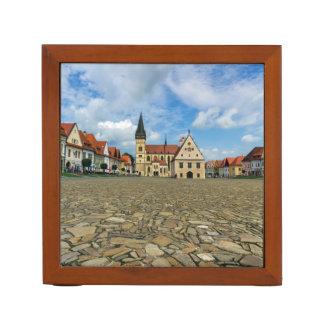 Porta-lápis Praça da cidade velha em Bardejov, Slovakia