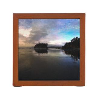 Porta Lápis Reflexão do por do sol da praia do rubi