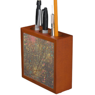Porta-lápis Respingo com o organizador da mesa do ouro