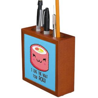 Porta-lápis Rolo de sushi de Emoji