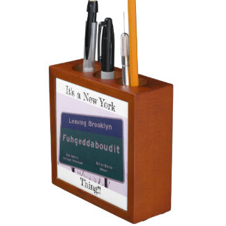 Porta-lápis Saindo de Brooklyn New York Fuhgeddaboudit