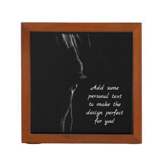 Porta Lápis Silhueta do cavalo preto & branco