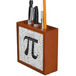 Porta-lápis Símbolo matemático do dia preto original do pi do