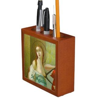 Porta-lápis St. Agatha da imagem dobro (M 003)