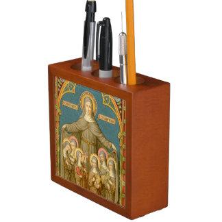 Porta Lápis St. Clare da imagem dobro de Assisi & das freiras