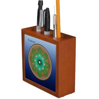 Porta-lápis Sun verde