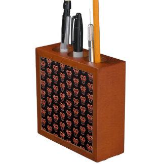 Porta-lápis Teste padrão de conversação escuro