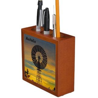 Porta Lápis Transportador australiano da mesa do por do sol do