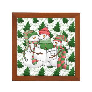 Porta Lápis Três Carolers do boneco de neve