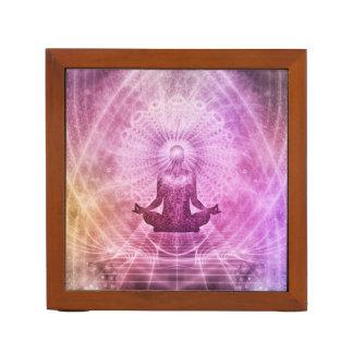 Porta-lápis Zen espiritual da meditação da ioga colorido