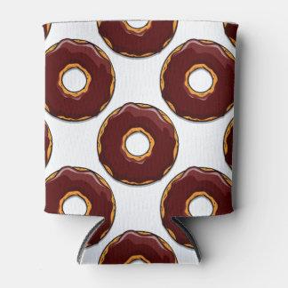 Porta-lata 1 design da rosquinha do chocolate dos desenhos