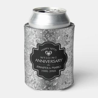 Porta-lata 25o Aniversário de casamento & damascos florais do