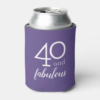 Porta-lata 40 e a violeta fabulosa do aniversário de 40 anos