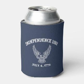 Porta-lata 4 de julho de 1776 refrigerador da lata de bebida