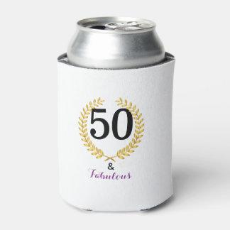 Porta-lata 50 e a festa de aniversário fabulosa podem