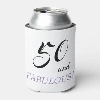 Porta-lata 50 e caneca fabulosa da festa de aniversário