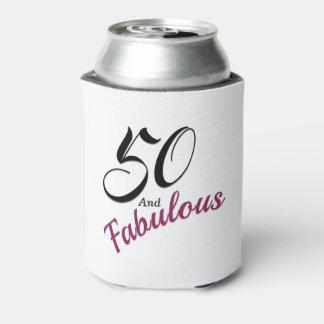 Porta-lata 50 e refrigerador fabuloso da lata. Branco, preto