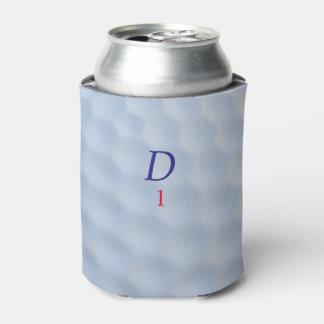 Porta-lata A bola de golfe ondeada Monogrammed pode