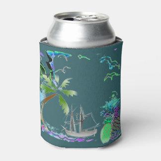 Porta-lata A brisa tropical legal da ilha pode refrigerador