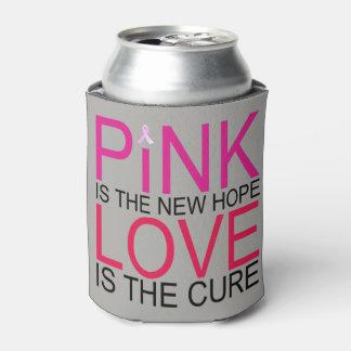 Porta-lata A consciência cor-de-rosa do cancro da mama do