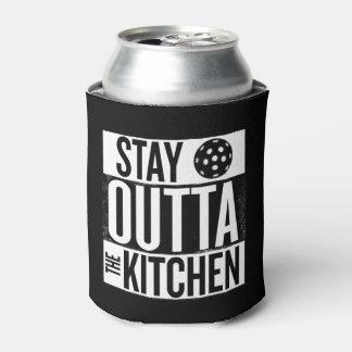 "Porta-lata A ""estada Outta a cozinha"" Pickleball pode"