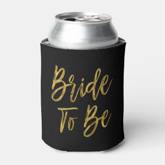 Porta-lata A noiva a ser aniversário da folha de ouro pode