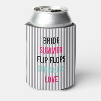 Porta-lata A noiva do verão do Seersucker polvilha o partido