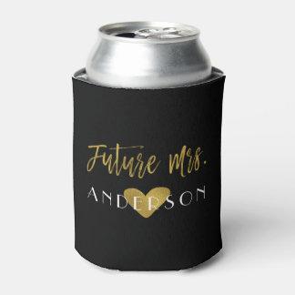 Porta-lata A Sra. futura noiva da folha de ouro pode