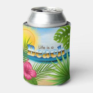 Porta-lata A vida é um design da praia