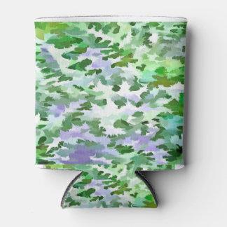 Porta-lata Abstrato da folha em verde e no malva