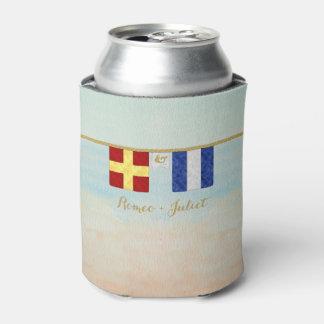 Porta-lata Aguarela marítima das bandeiras de sinal do