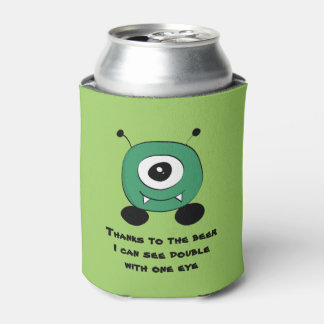 Porta-lata Alienígena verde engraçada bonito