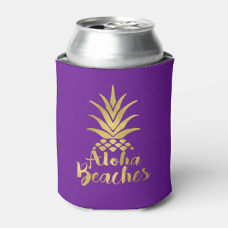 Porta-lata Aloha favor de festa de solteira das praias